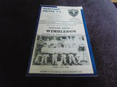 Hereford United v Wimbledon, 1966/67